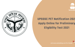 UPSSSC PET Notification 2021 – Apply Online for Preliminary Eligibility Test 2021