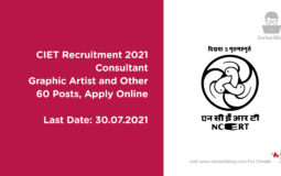 CIET Recruitment 2021 – Consultant, Graphic Artist and Other, 60 posts, Apply Online