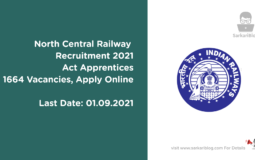 North Central Railway Recruitment 2021 Act Apprentices, 1664 Vacancies, Apply Online
