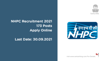 NHPC Recruitment 2021, 173 Posts, Apply Online