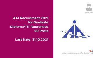 AAI Recruitment 2021 for Graduate/Diploma/ITI Apprentice | 90 Posts | Last Date: 31 October 2021