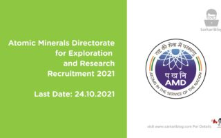 Atomic Minerals Directorate for Exploration and Research Recruitment 2021